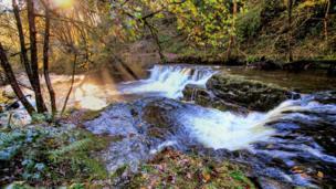 Waterfalls near Pontneddfechan, Powys