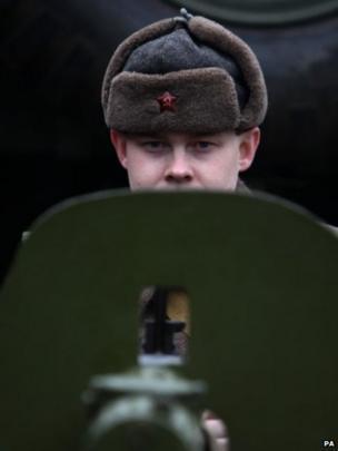 David Saffrey at Brooklands Military Vehicles Day