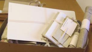 Documents in box