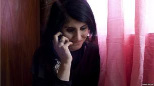 Skala Sarkawt Noori on the phone
