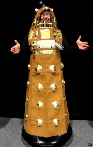 Doctor Who fan dressed as a Dalek