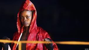 A female kick boxer in Juba, South Sudan - Friday 22 November 2013