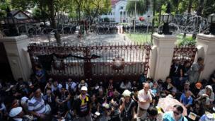 Protesters in Bangkok, Thailand, 1 Dec