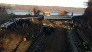 Rescue teams respond to the scene