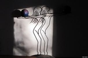 Candle and shadow