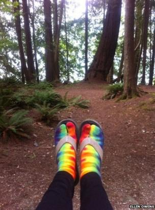 Feet in a forest