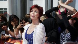 Sharon Osbourne sticking her tongue out