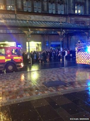 Commuters at Glasgow's Central Station were evacuated