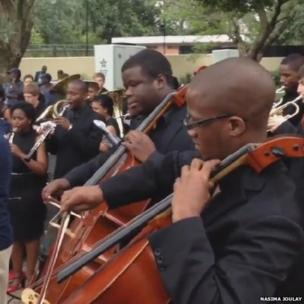 The South African National Youth orchestra. Photo: Nasima Joulay