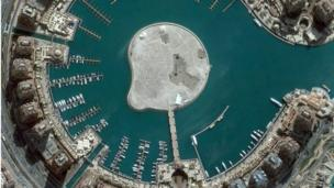 Image of Qatar's man made island called the Pearl