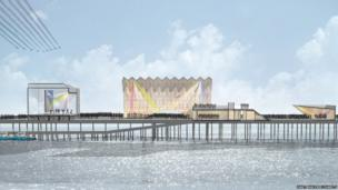 Artist impression of a restored Hastings Pier