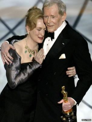 Peter O'Toole and Meryl Streep in 2003