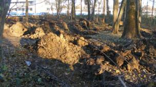 Site of a Roma camp razed by police on 4 December