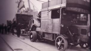 Cargo off-loaded from a ship called Belnor c1939 bound for nearby Shotton Steelworks