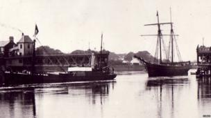 Tall ships were once a common sight on the Dee estuary