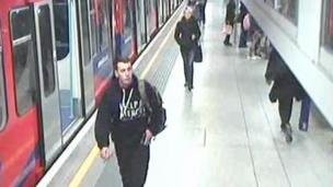 Lee Rigby at Woolwich DLR station shortly before his murder
