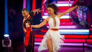 Natalie Gumede and partner Artem Chigvintsev in the Strictly final