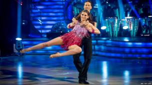 Sophie Ellis-Bextor and partner Brendan Cole in the Strictly final