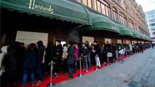 Harrods sale, Knightsbridge, London
