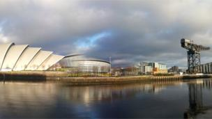 View of River Clyde in Glasgow