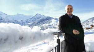 Swiss President and Defence Minister Ueli Maurer poses for photographs during his annual media event in Adelboden December 27, 2013