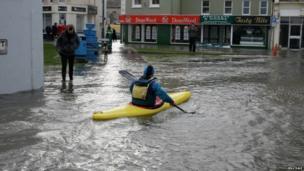 Flooding in Ramsey, Isle of Man