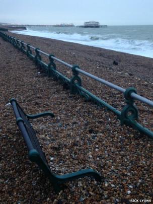 Shingle on Brighton seafront