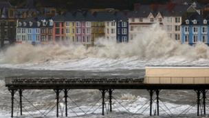 The seafront at Aberystwyth in Ceredigion
