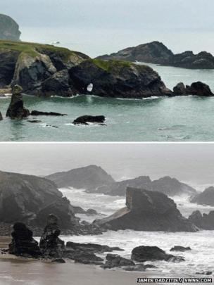 The rock arch at Porthcothan Bay - this pic only to be used here