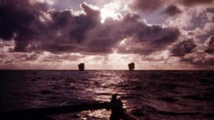 Rafts on the sea