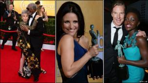 Rita Moreno, Morgan Freeman, Julia Louis Dreyfus, Benedict Cumberbatch and Lupita Nyong'o