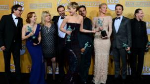 American Hustle stars with their SAG awards