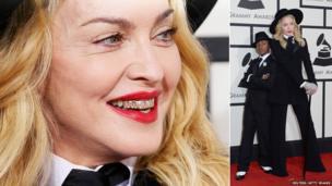 Madonna and son David Banda