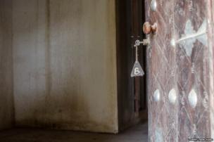Door key in lock in Mali