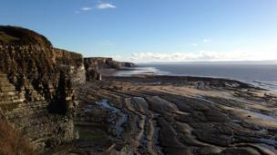 View from Dunraven Park towards Nash Point, Vale of Glamorgan