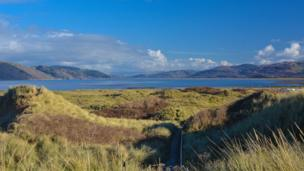 The Dyfi estuary from the sand dunes near Ynyslas, Ceredigion