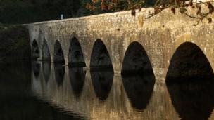 Bosherston lily ponds bridge