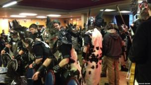 Up Helly Aa preparations