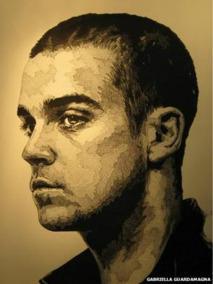 Robbie Williams sketch drawing