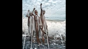 Young men from the Kara Tribe, Omo, Ethiopia