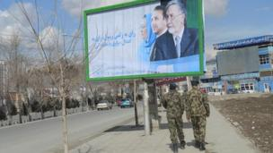 Afghan elections - Zalmai Rassoul poster