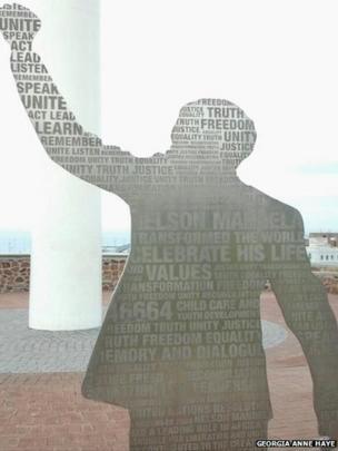 Nelson Mandela sculpture