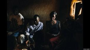 "Members of a ""drinking club"" in western Kenya"