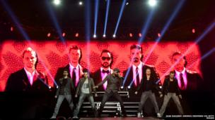 The Backstreet Boys perform at Palacio de Vistalegre in Madrid, Spain.