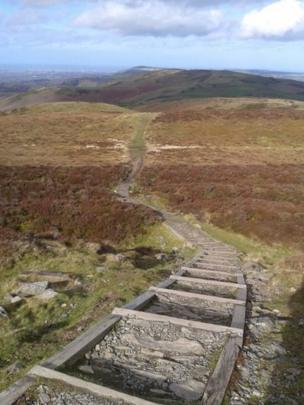 Offa's Dyke Path, above Llangwyfan Woods, Denbighshire