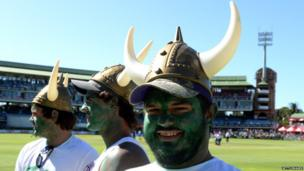 South African cricket fans