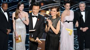 Jamie Foxx and Jessica Biel, Joseph Gordon-Levitt and Emma Watson and Penelope Cruz and Robert De Niro.