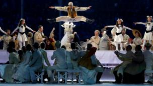 Russian dancers at Sochi