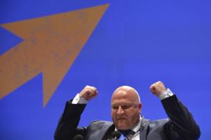 Bob Crow, General Secretary of the Rail and National Union of Rail, Maritime and Transport Workers (RMT), addressing the Trades Union Congress, 2013