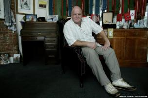 Bob Crow in his office, London, 2009